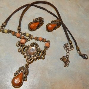 Renaissance Inspired Necklace & Earring Set